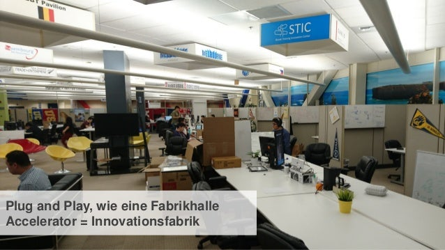 14 Plug and Play, wie eine Fabrikhalle Accelerator = Innovationsfabrik