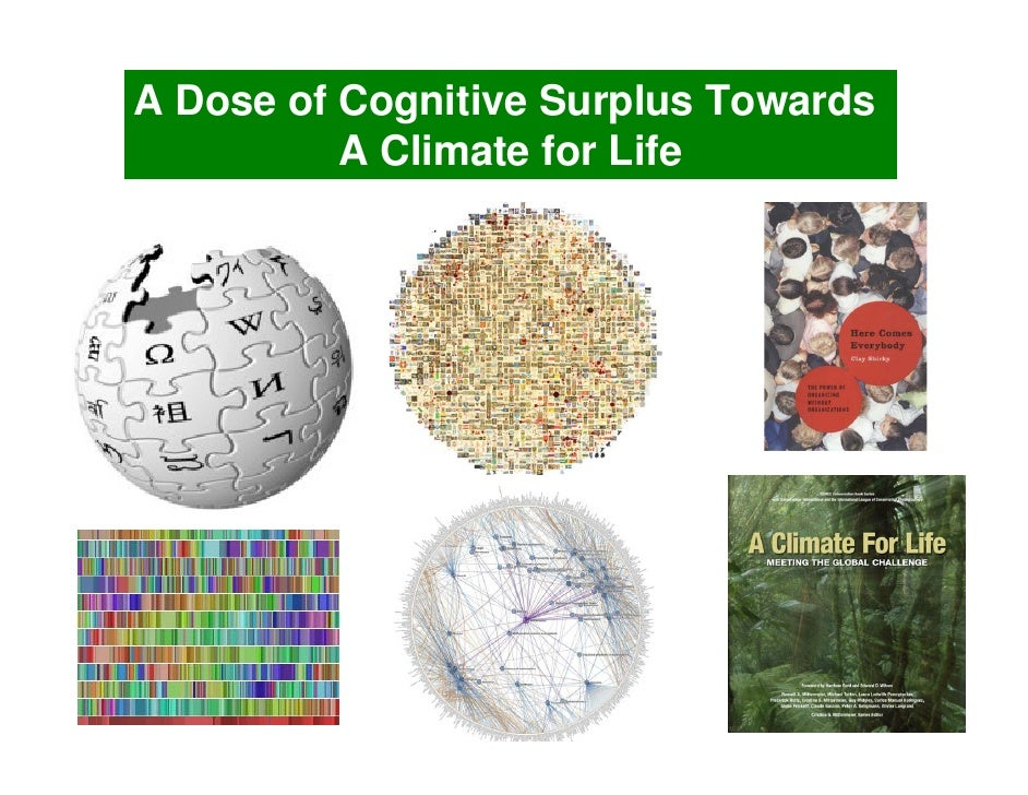 A Dose of Cognitive Surplus Towards           A Climate for Life