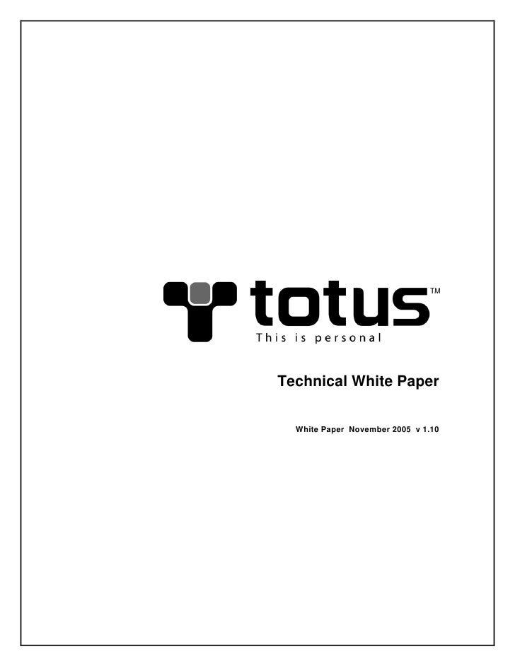 Technical White Paper     White Paper November 2005 v 1.10
