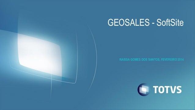 GEOSALES - SoftSite  RAISSA GOMES DOS SANTOS, FEVEREIRO 2014