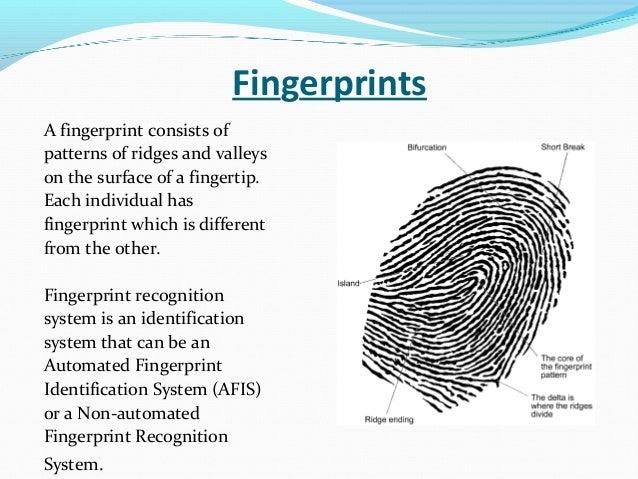 automated fingerprint identification system pdf
