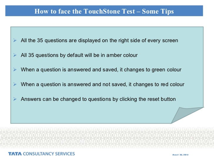 Touch Stone Online Entrance Test