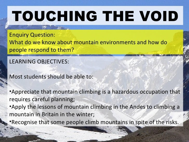 Lesson Plans Touching the Void