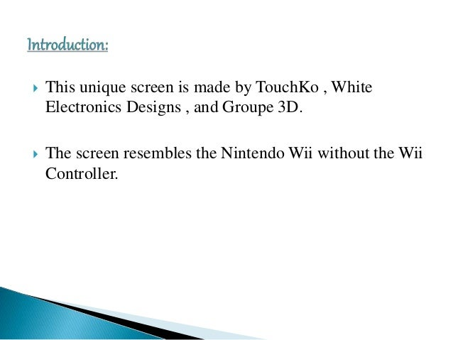 Touchless technology Seminar Presentation Slide 2