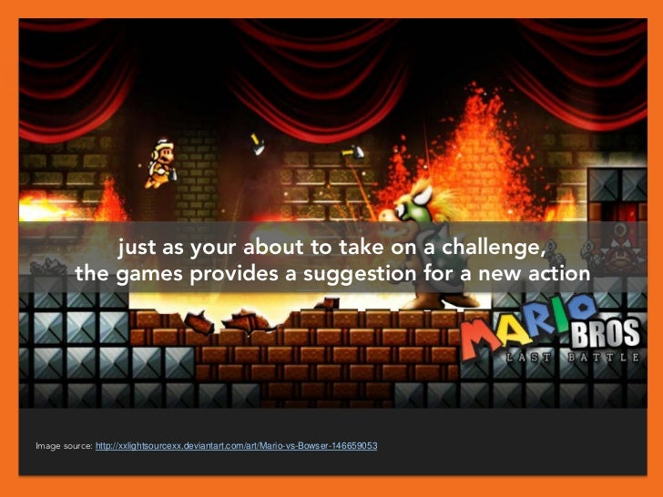 just as your about to take on a challenge,         the games provides a suggestion for a new actionImage source: http://xx...