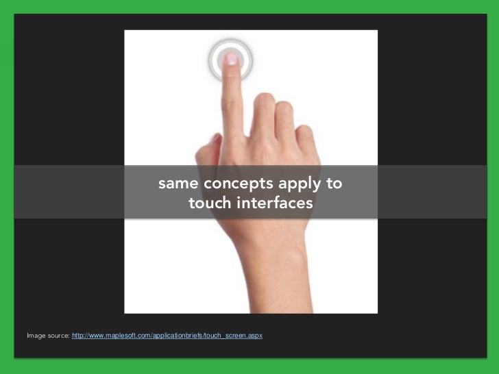 same concepts apply to                                            touch interfacesImage source: http://www.maplesoft.com/a...