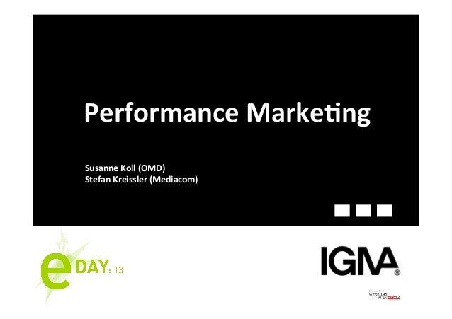 Performance Marke-ng Susanne Koll (OMD) Stefan Kreissler (Mediacom)