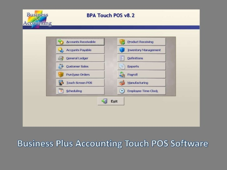 Business Plus Accounting Touch POS Software<br />