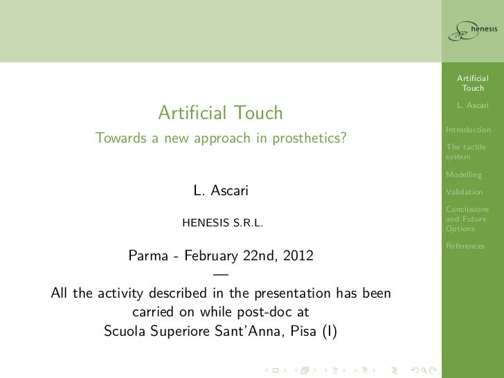 Artificial                                                              Touch                                              ...