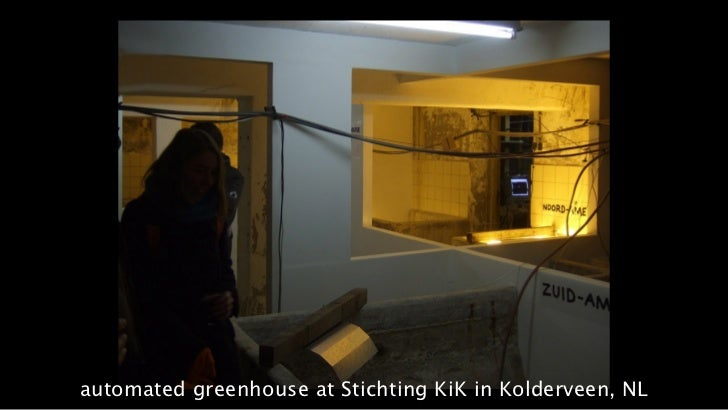 automated greenhouse at Stichting KiK in Kolderveen, NL