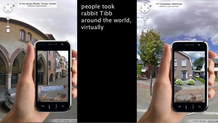 people tookrabbit Tibbaround the world,virtually