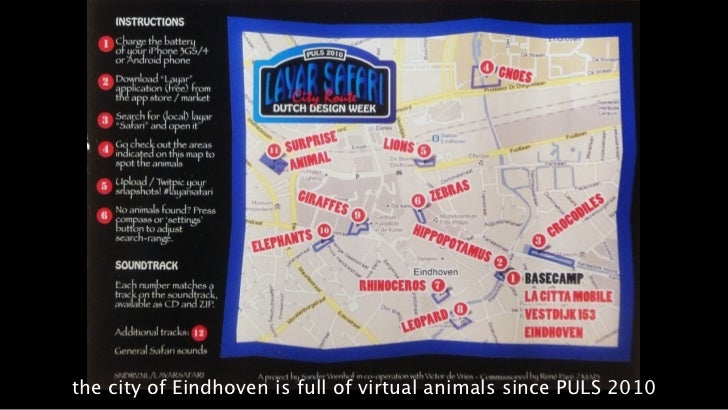 the city of Eindhoven is full of virtual animals since PULS 2010