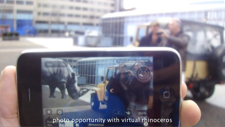 33photo opportunity with virtual rhinoceros