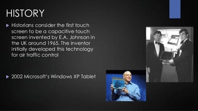 touch screen technology presentation