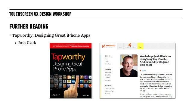 Touchscreen UX design workshop