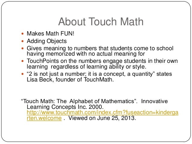 Touch Math Worksheets Free & free touch math printables free best ...