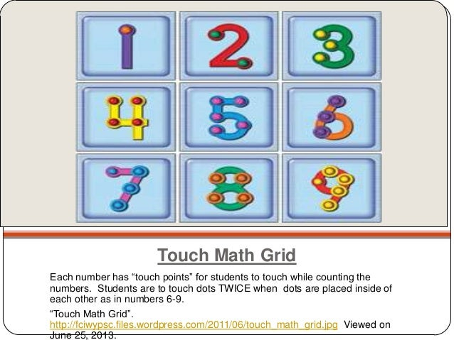 Touchy touch math – Touchpoint Math Worksheets