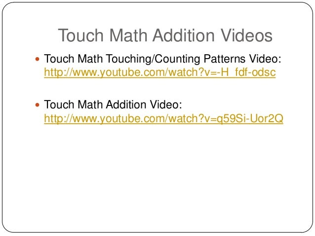 Touchy touch math – Touch Math Worksheets Addition