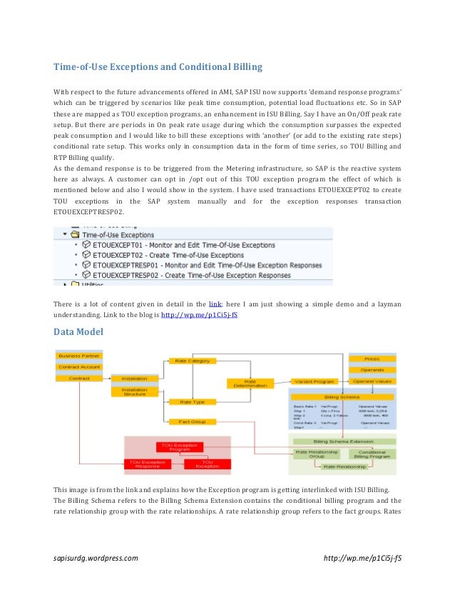 sap isu tou exception program conditional billing