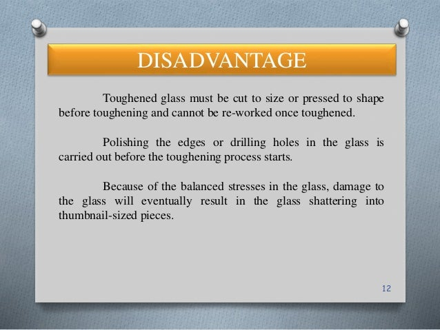 12 toughened glass must be cut to size