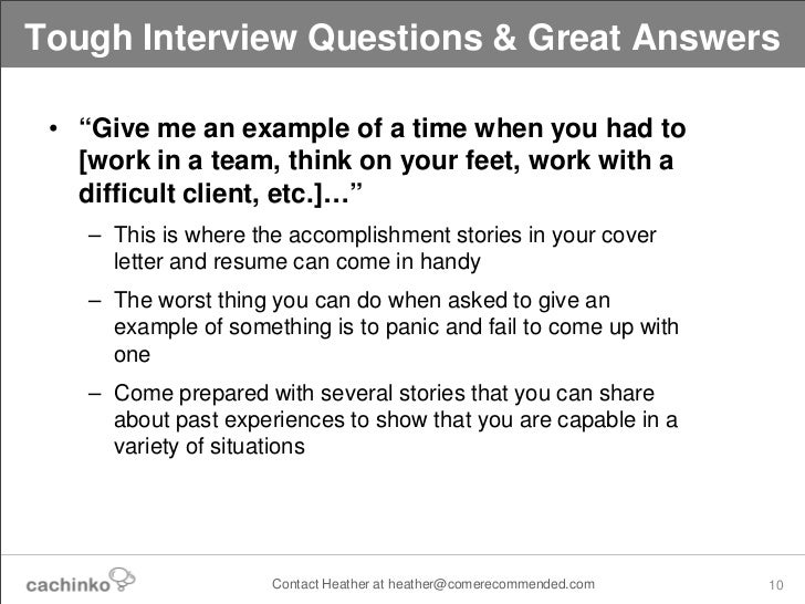 tough interview questions  u0026 the answers that will impress potential e u2026