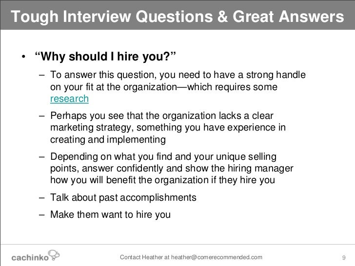 Lovely ... 9. Tough Interview Questions ...