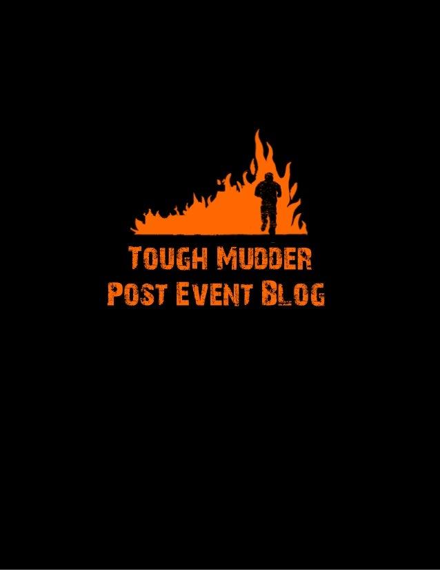 Tough Mudder Post Event Blog