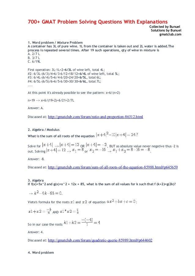 gmat problem solving