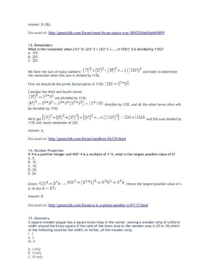 Guide de problem solving avec solution - préparation