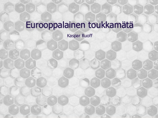 Eurooppalainen toukkamätä Kaspar Ruoff