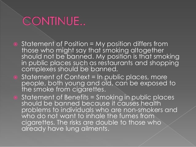 """rogerian argument smoking Ban on smoking in public places ban on smoking in public places"""", and i had to use rogerian argument i sent the research paper to tutorcom, and i'll write the tutor feedback in the bottom after the essay instructions."""