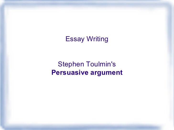 Toulmin Essay Outline