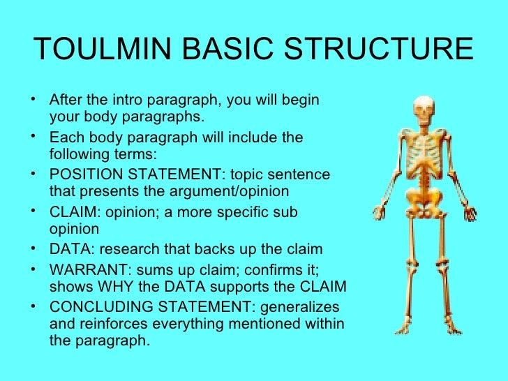 Toulmin essay conclusion paragraph