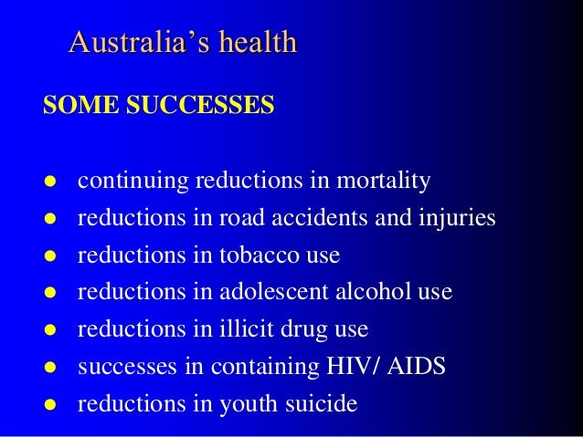 an introduction to the drug problem in australia An introduction to co-morbidity (co-occurring mental health and alcohol australian national survey of mental health and wellbeing health and alcohol and other drug problems) queensland government, brisbane.
