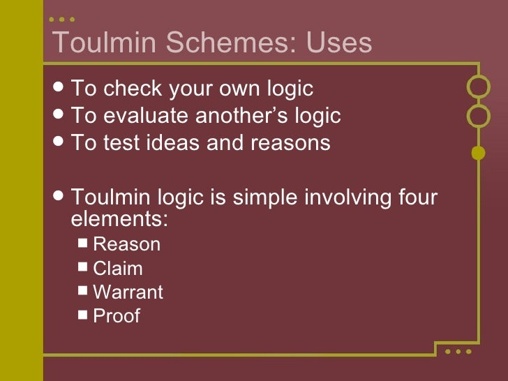Toulmin and Rogerian Arguments