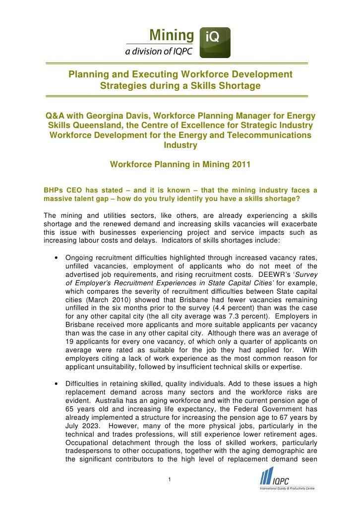 Planning and Executing Workforce Development             Strategies during a Skills ShortageQ&A with Georgina Davis, Workf...