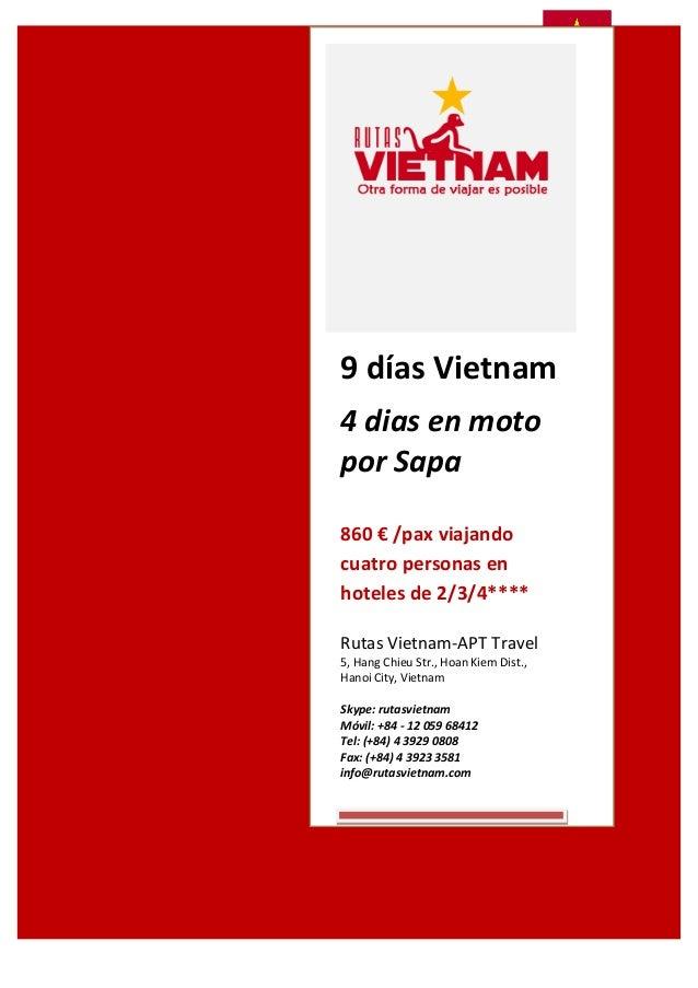 9  días  Vietnam       4  dias  en  moto   por  Sapa       860...