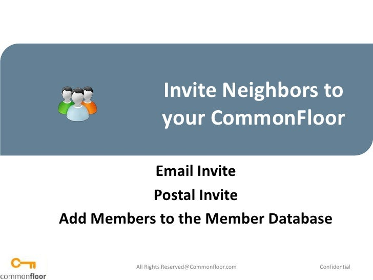 How to invite neighbors  to your CommonFloor
