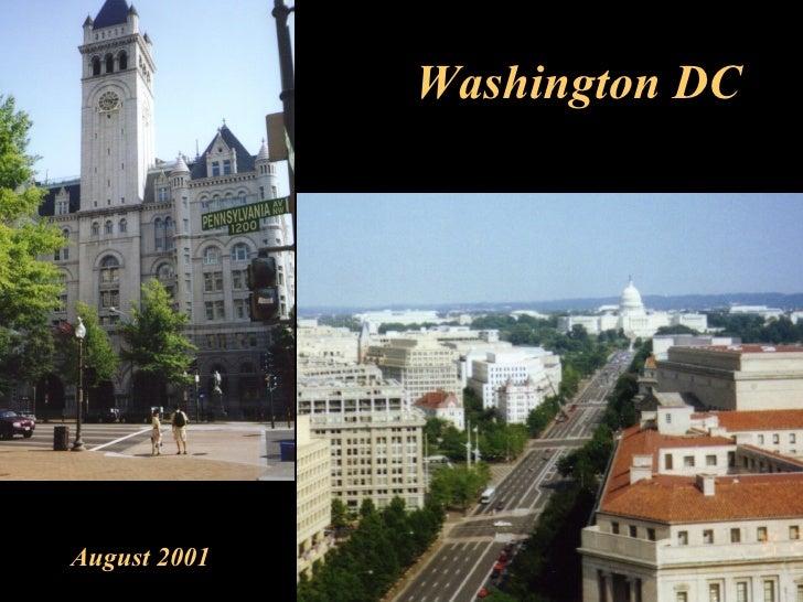 Washington DC August 2001