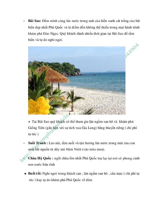 - Bãi Sao: Đắm mình cùng làn nước trong mát của biển xanh cát trắng của bãi biển đẹp nhất Phú Quốc và là điểm đến không th...
