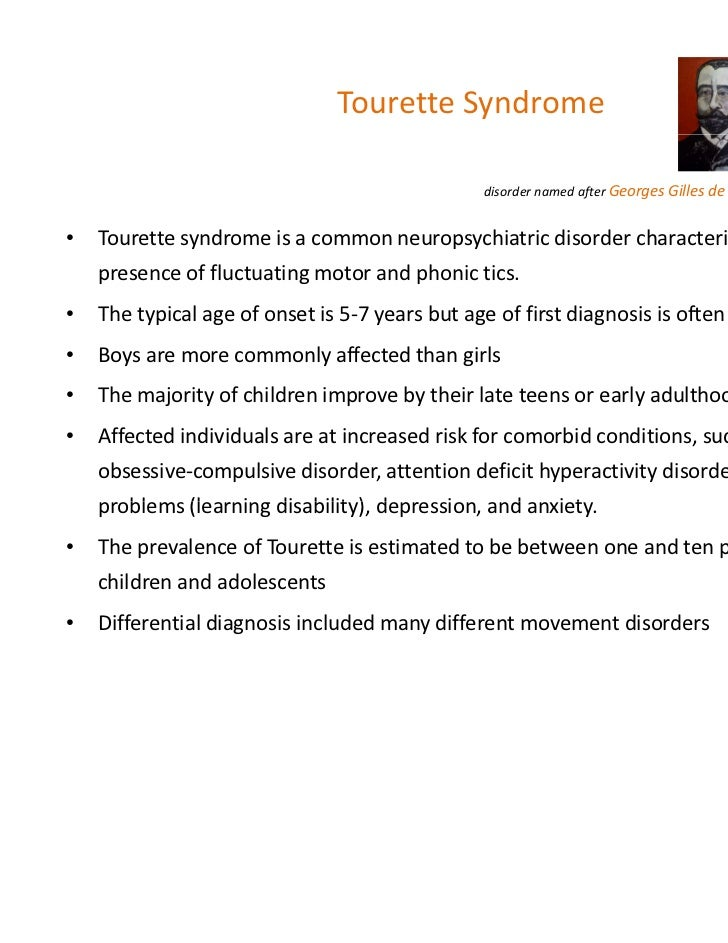 challenges of adolescents afflicted by tourette syndrome ts Management of co-morbid symptoms of tic disorder (td) or tourette syndrome (ts) measure description percentage of patients who were treated or referred for treatment for co-morbid symptoms of tic.