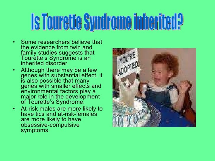 the main characteristics of tourette syndrom Learn the details about tourette's syndrome, which causes involuntary  what is  tourette's syndrome causes  the main symptom is tics.