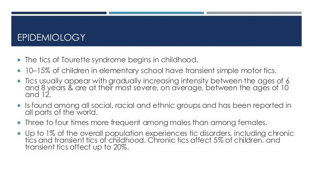 Tourette Syndrome Other Tic Disorders