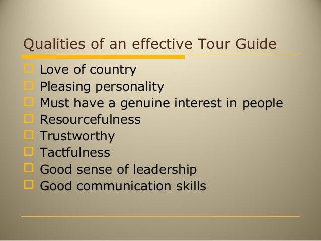 Tour guiding.