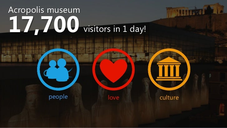 Acropolis museum17,700             visitors in 1 day!         people          love           culture