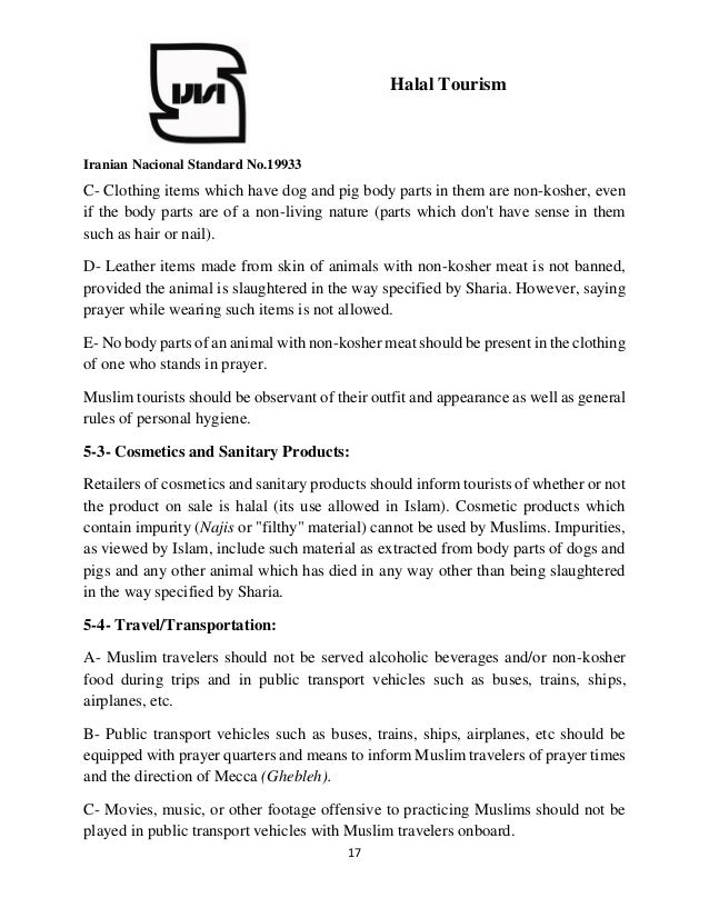 Halal Tourism Standard in Iran