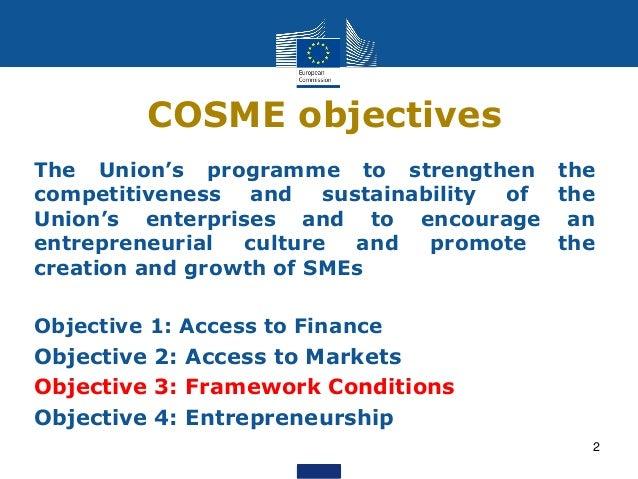Enhancing European Tourism (COSME)  Slide 2