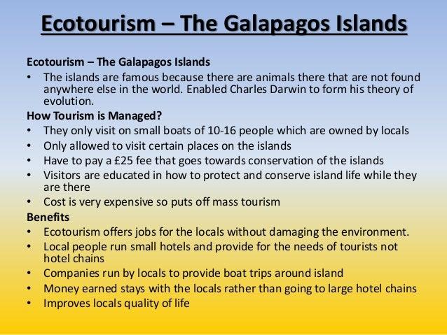 Galapagos islands ecotourism case study gcse