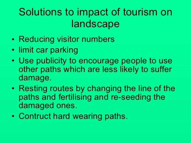 The lake district impacts of tourism
