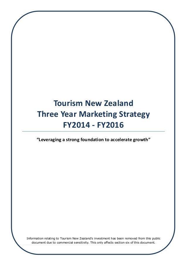 tourism new zealand three year marketing The master of marketing is a one year degree that encompasses both coursework and research.